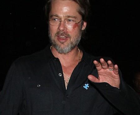 Brad Pitt a pățit-o! De ce a apărut cu vinețeală pe față (Foto)