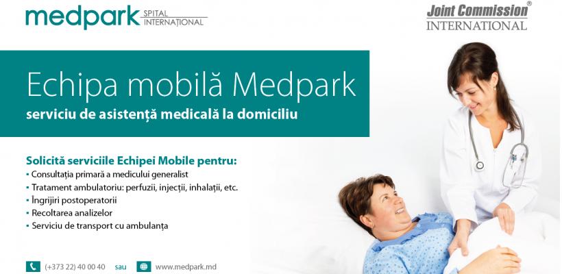 """Medpark lansează """"Echipa Mobilă"""" – serviciu de asistență medicală la domiciliu"""