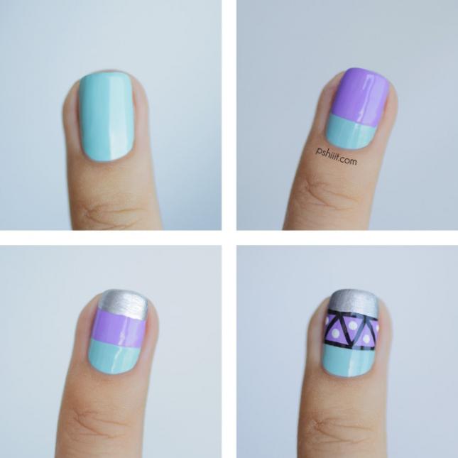nail-art-graphique-mint-et-lavande6-645x645