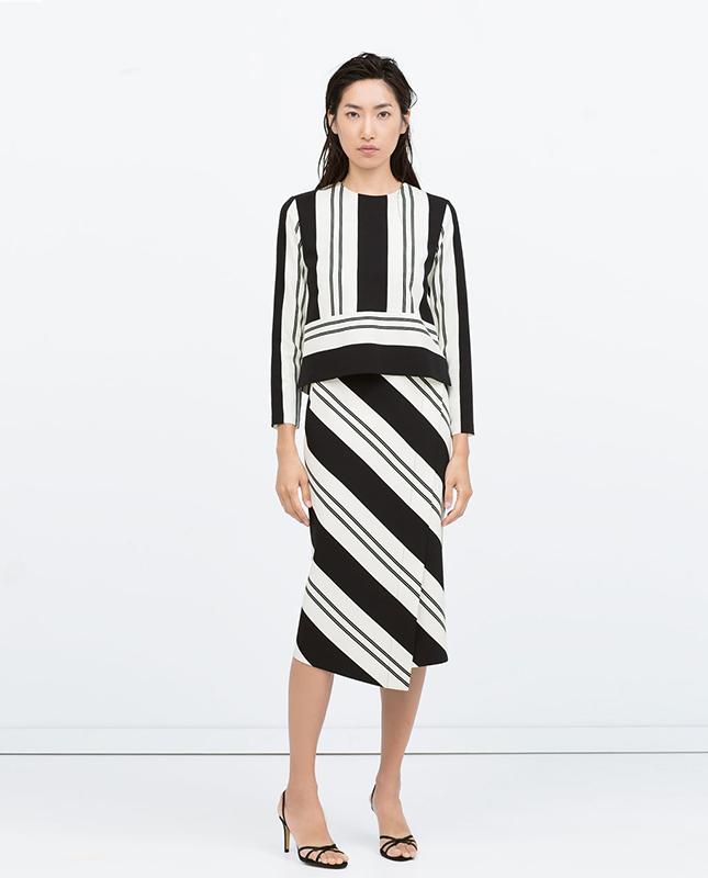 zara-striped-skirt