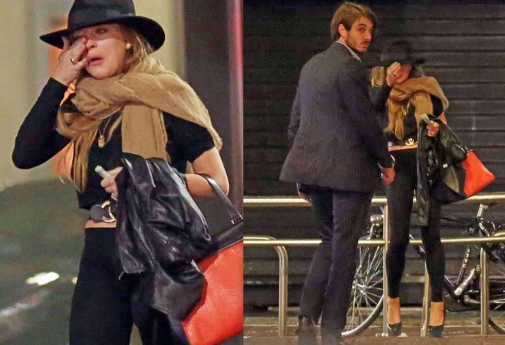 Lacrimi și gesturi disperate! Lindsay Lohan a plâns când și-a văzut întâmplător ex-iubitul (Foto)
