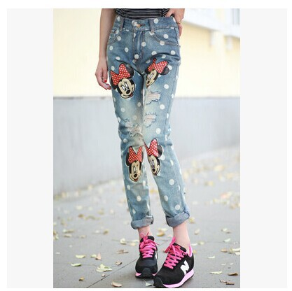 2014-new-Korean-fashion-wave-point-printing-demin-pants-simple-handsome-BF-wind-ripped-jeans-font