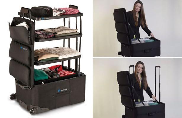 Faceți cunoștință: valiza cu rafturi. Cum arată invenția