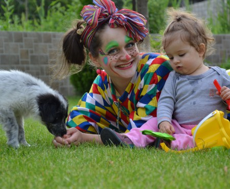 Elena Grădinaru – clovnul care socoate cel mai corect zâmbetele copiilor!