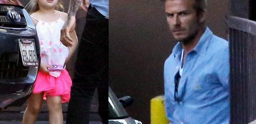David Beckham și-a scos copiii la restaurant! Micuța Harper e tratată ca o prințesă de tatăl și frații săi (Foto)