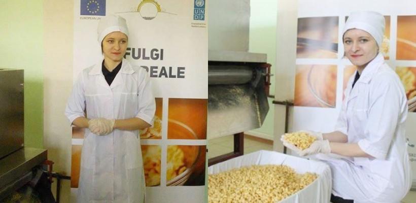 Angela Sobol – tânăra care a pus pe picioare prima afacere cu fulgi de cereale din Moldova