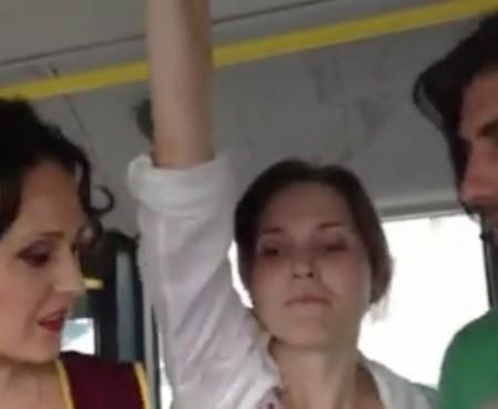 O nouă parodie marca Ionela Hadârcă: Taxatoarea obraznică din transportul public