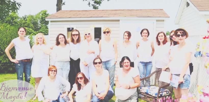"""Câteva moldovence din Canada au organizat """"Barza shower"""" pentru nou-născuta Natei Albot"""