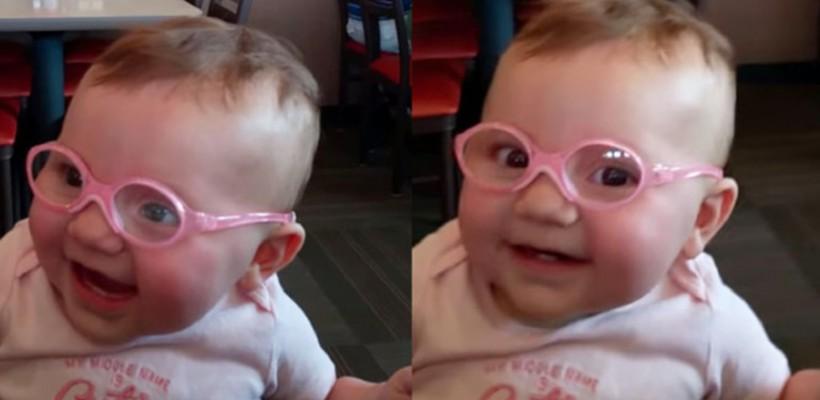 Această fetiță vede în premieră cu ajutorul unor ochelari! Reacția te va topi