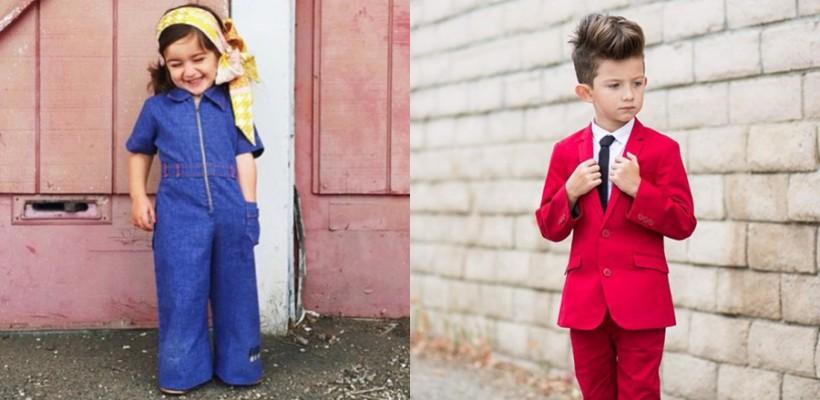 Ținute stilate pentru copii, inspirate din rețeaua Instagram
