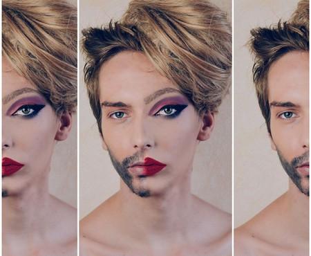 Un make up artist din România realizează două machiaje pe aceeași față (Foto)