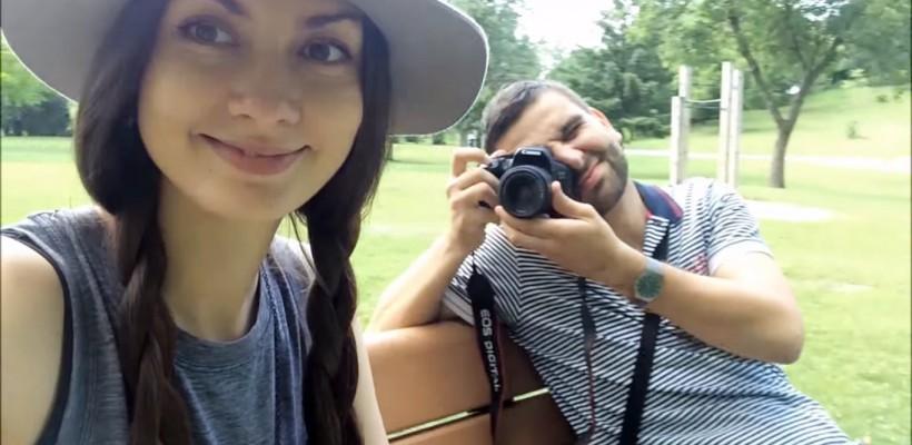 Alecu Mătrăgună și Cornelia Corlătean, în prima lor vară canadiană (Video)