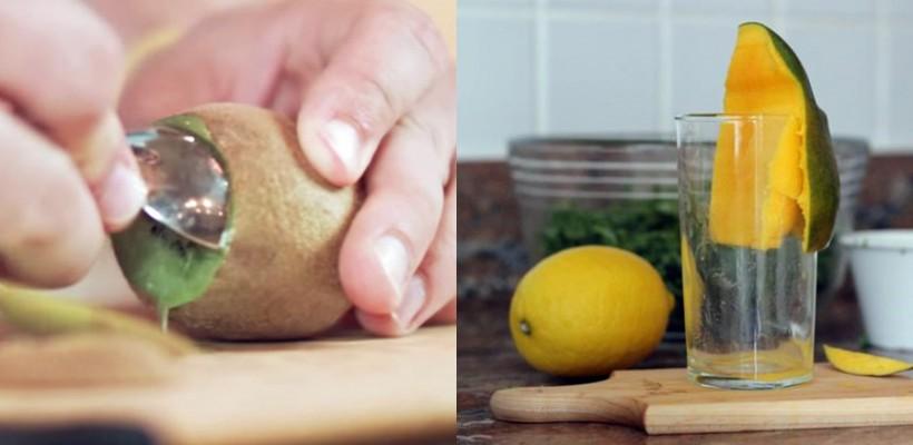 Cum separi pulpa unui kiwi sau a unui mango de coajă, în doar 5 secunde (Video)