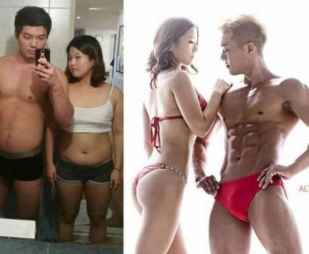 Doi îndrăgostiți din Coreea de Sud fac furori pe Instagram după ce au slăbit considerabil