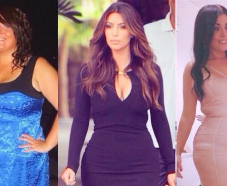 A slăbit peste 50 de kilograme doar pentru a-i semăna idolului Kim Kardashian