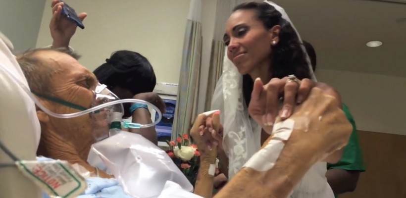 Surpriza pe care o mireasă i-a făcut-o tatălui aflat pe patul de moarte (Video)