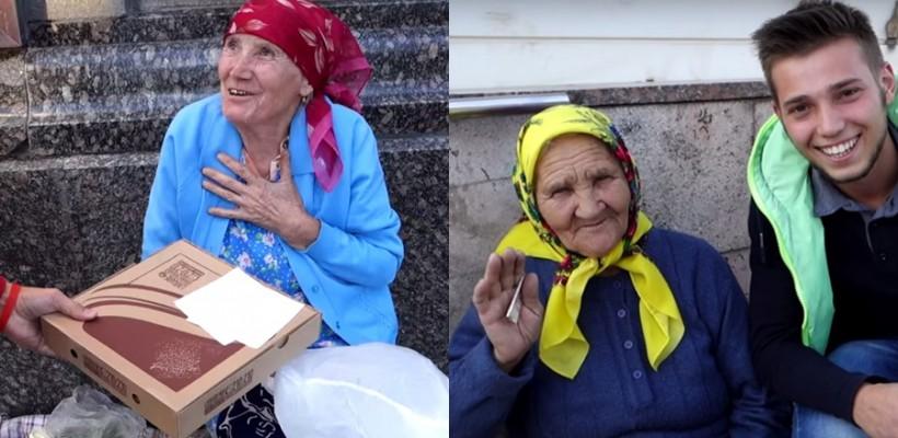 Au împărțit pizza pentru oamenii care cerșesc în Chișinău. Reacțiile emoționează!