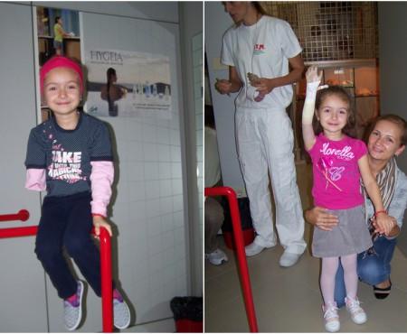 Campania 5 copii mai fericiți! Alexandrina Pavalache – viitoarea pictoriță născută fără o mână