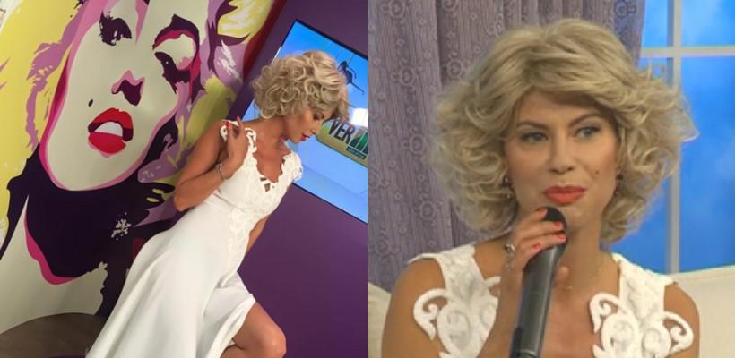 Inspirată de Marilyn Monroe, Natalia Barbu s-a făcut blondă