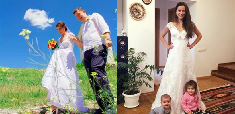 La fel de frumoasă în rochie de mireasă! Lia Bejenaru a sărbătorit Nunta de Piele