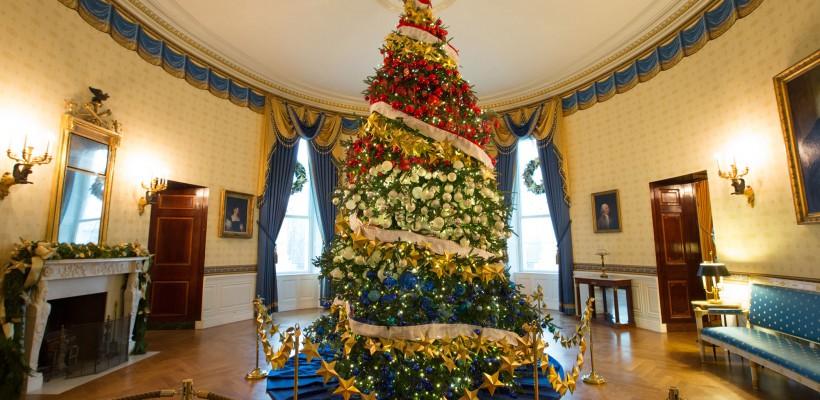Și Casa Albă a îmbrăcat straie de sărbătoare! Ce decorații au fost instalate de Crăciun