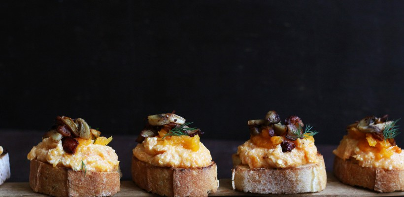 Valerie's Food: Bruschette cu dovleac copt