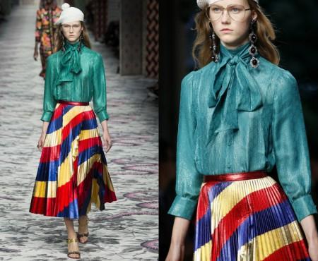 Fusta tricolor, prezentată în cea mai recentă colecție a brandului Gucci! (Foto)