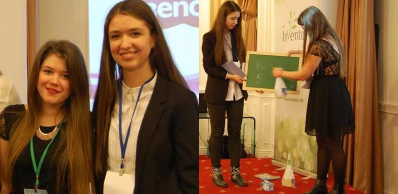 Diana Țăruș și Cristina Bulancea – liceenele din Ungheni care au revoluționat scrisul la tablă
