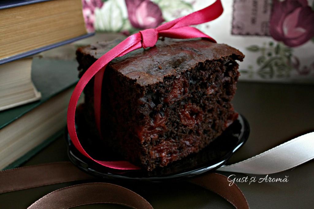 prăjitură cu vișine și ciocolată
