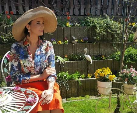 Primăvara a venit din nou în grădina Andreei Marin! Cât de minunat arată în acest an