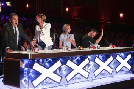 A THAMES/SYCO TV PRODUCTION FOR ITV  UNDER STRICT EMBARGO UNTIL 00.01 ON SATURDAY 9TH APRIL 2016.  TX01 on Saturday 9th April 2016.   BRITAIN'S GOT TALENT coming soon to ITV and ITV2   Picture Shows: JUDGES REACTION TO ALEXANDR MAGALA  This Spring, the one and only BritainÕs Got Talent is back and celebrating 10 triumphant years of talent.  The dream team of judges - Simon Cowell, Amanda Holden, Alesha Dixon and David Walliams - once again take their places on the panel, in search of the most astonishing and exhilarating talent around. They are joined by the nationÕs favourite TV duo Ant & Dec, who will be on hand to encourage, congratulate and commiserate the variety of acts whilst guiding the audience through the auditions.  With thousands of people applying, viewers can expect to be amazed and astounded by the remarkable line-up of acts competing to be crowned this yearÕs winner and secure an incredible £250,000 and the opportunity to perform at the Royal Variety Performance 2016. The past decade has seen some of the most exciting and entertaining winners from Paul Potts to Diversity, Ashleigh & Pudsey to Attraction. And itÕs not only the winners who have delivered some of our most memorable moments on television; there was singer Susan Boyle, comedian Jack Carroll, magician Darcy Oake and of course, the dog that hypnotised Simon - to name a few. This yearÕs series is sure to provide many more must see moments.
