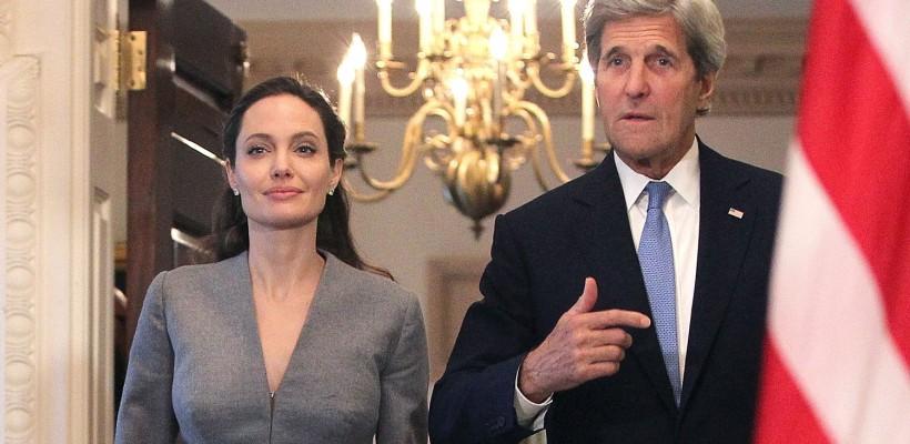 Angelina Jolie: o nouă apariție publică. S-a întâlnit cu secretarul de stat american John Kerry