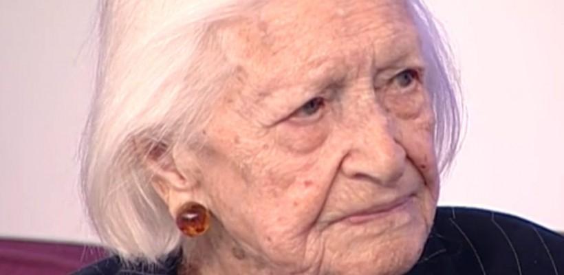 """Cea mai bătrână femeie din România și-a dezvăluit secretul longevității. """"Nu am avut parte de dragoste"""""""