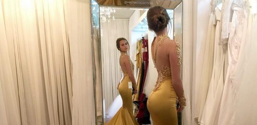 Xenia Deli a probat o rochie splendidă! Să fie aleasă pentru ziua nunții?