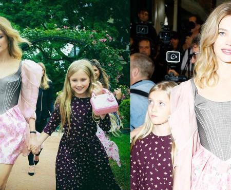 Natalia Vodianova și-a luat fiica de 10 ani la prima prezentare de modă (Foto)