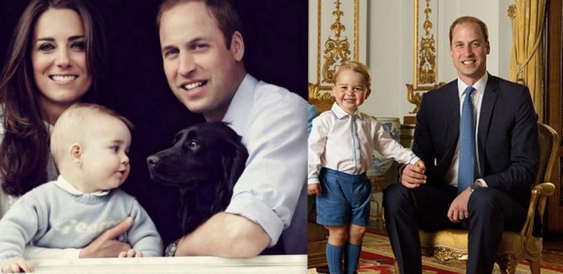 """Prințul George împlinește azi 3 anișori! Micuțul e numit """"style icon"""" printre copiii celebri (Foto)"""