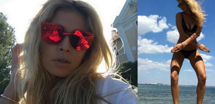 Vera Brejneva s-a afișat nebunatică și sexy pe plaja din Odessa (Video)