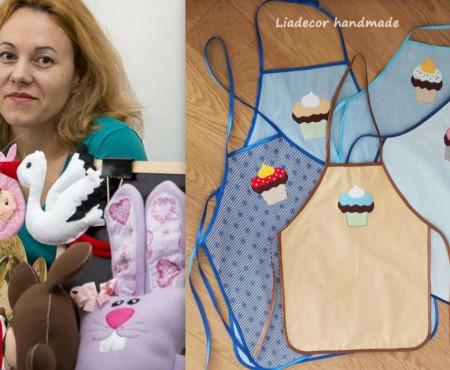 Natalia Jurjiu Ciorbă creează șorțulețe excepționale pentru gospodine și fetițele lor! Admiră-i creațiile (Foto)