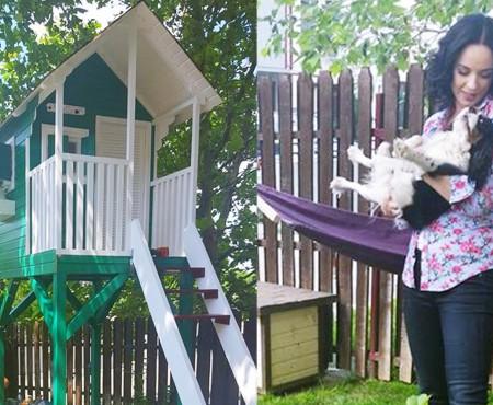 Andreea Marin i-a confecționat fiicei o căsuță în copac! Cum arată surpriza pentru Violeta