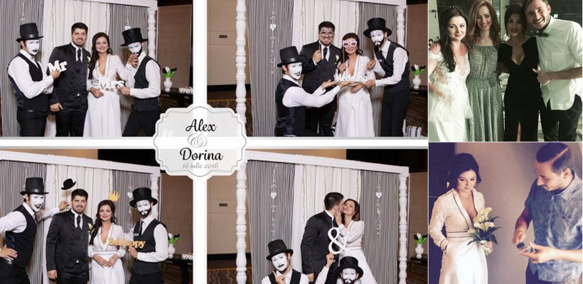 Dorina Cojocaru și Alex Filipschi și-au jucat nunta! Mireasa a ales două ținute elegante