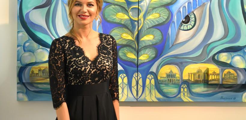 Olga Percinschi e pictorița din RM care și-a expus lucrările alături de 6 – cei mai renumiți pictori ai lumii (Foto)