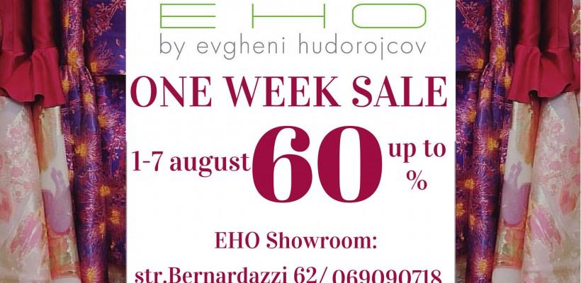 EHO by Evgheni Hudorojcov anunță o săptămână de reduceri de până la 60%