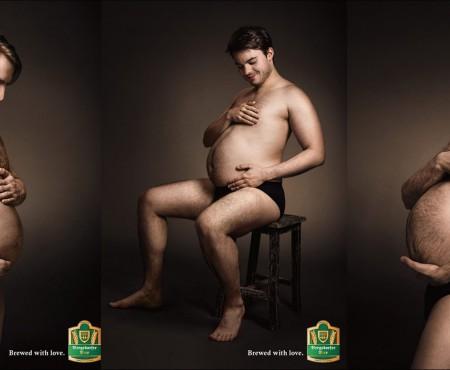 """Când bărbații cu burtici """"de bere"""" parodiază ședințele foto ale gravidelor (Foto)"""