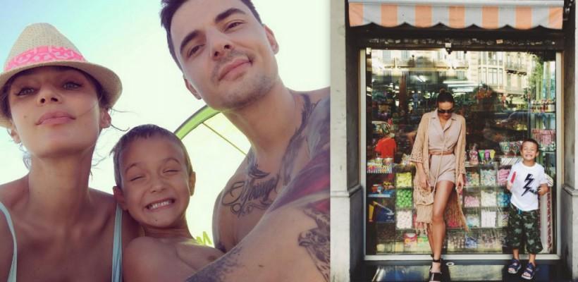Bloggerița Alena Vodoaneva își petrece vacanța alături de iubit și fiu! Imagini frumoase de familie