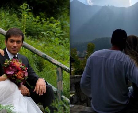 """La munte în trei! Adela Popescu a arătat imagini de la aniversarea """"Nunții de Hârtie"""""""