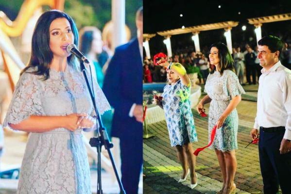 """Jasmin a participat ieri la inaugurarea parcului """"Ivanos"""", din Orhei! A ținut discurs în locul lui Ilan Shor (Foto)"""