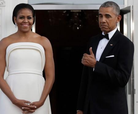 Cât rafinament! Michelle Obama a strălucit cu ținuta aleasă pentru o recepție (Foto)