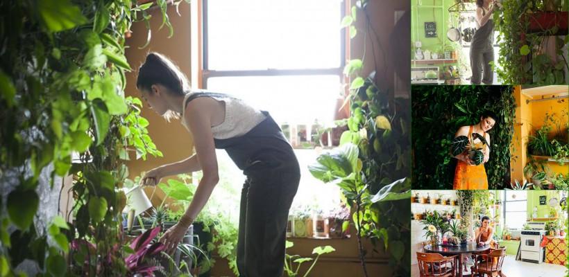 Cum arată apartamentul cu peste 500 de plante al unui model american (Foto)