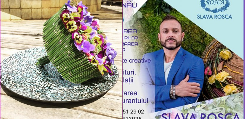 """Floristul Slava Roșca despre buchetul miresei: """"Le fac unice, ca și mireasa. Am făcut și buchete din flori de cameră"""""""