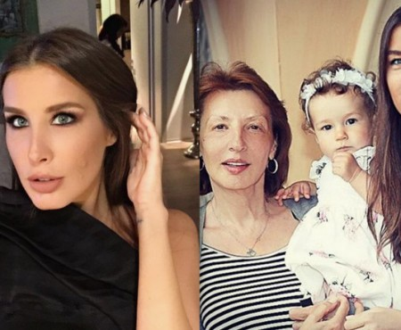 Trei generații, într-o imagine! Keti Topuria pozează mândră alături de mama și fiica (Foto)